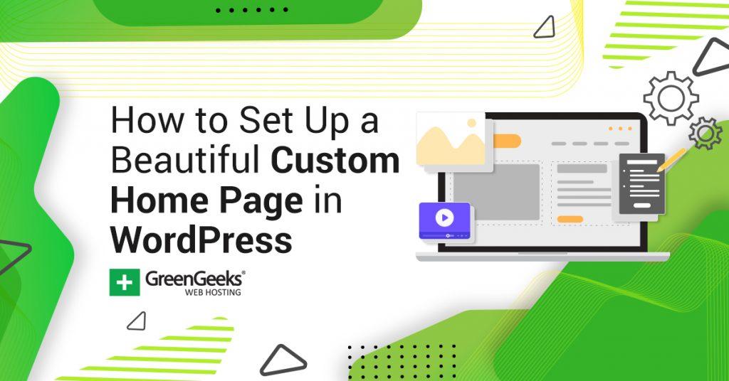 Custom Home Page WordPress